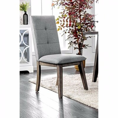 Leithgow Modern Dining Chair Upholstery Color: Gray