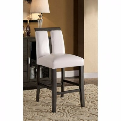 Ballintoy Contemporary Counter Upholstered Dining Chair Upholstery Color: Black