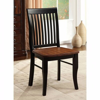 Jacklynne 2 Chair Solid Wood Dining Chair Set