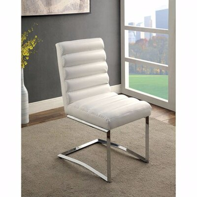 Ballinderry Solid Wood Dining Chair Upholstery Color: White