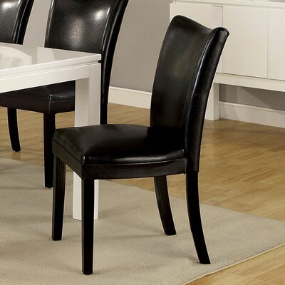 Rohando Solid Wood Dining Chair Color: Black