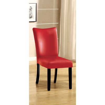 Rohando Solid Wood Dining Chair Color: Red