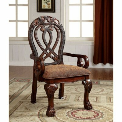 Barrymore Traditional Solid Wood Arm Chair Color: Cherry