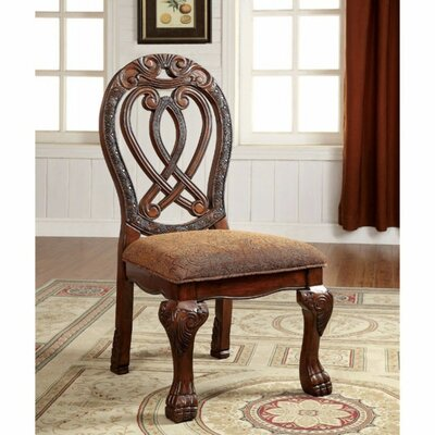 Barrymore Traditional Solid Wood Dining Chair Color: Cherry