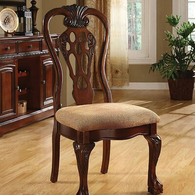 Bartonville Traditional Solid Wood Side Chair