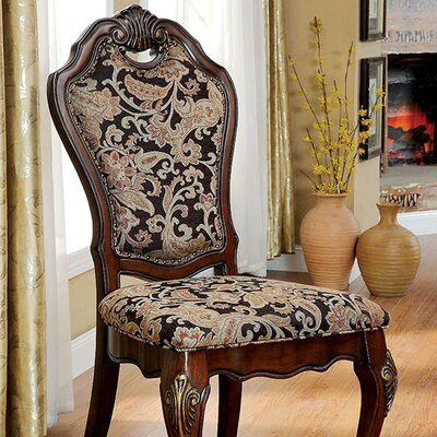 Bartz Traditional Solid Wood Side Chair