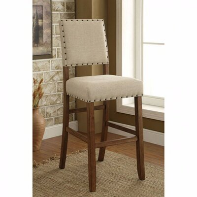 Adalard Bar Stool Color: Beigh/Brown