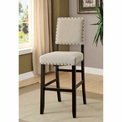 Adalard Bar Stool Color: Cream/Black