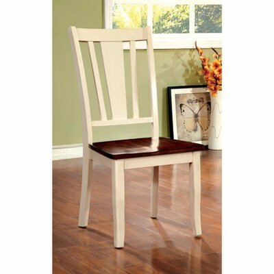 Adalbert Solid Wood Dinning Chair Frame Color: Cherry/White
