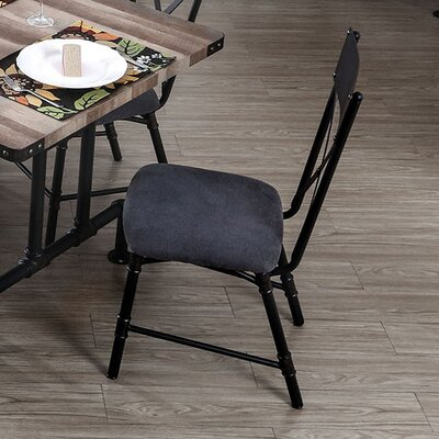 Carvell Industrial Water Pipe Solid Wood Dining Chair