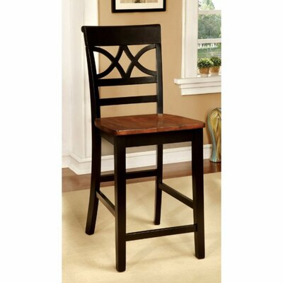 Oisin Cottage Solid Wood Dining Chair Frame Color: Black/Oak