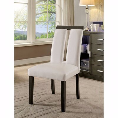 Ballintoy Contemporary Solid Wood Dining Chair Upholstery Color: Gray
