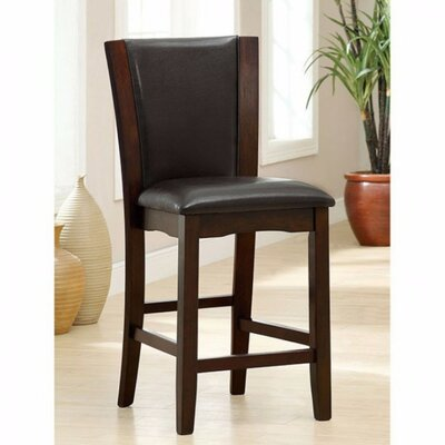 Manhattan Upholstered Dining Chair Upholstery Color: Dark Cherry