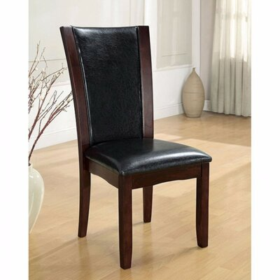 Manhattan Upholstered Dining Chair Upholstery Color: Black