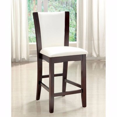 Manhattan Upholstered Dining Chair Upholstery Color: White