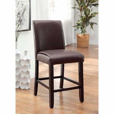 Janeta Solid Wood Dining Chair Upholstery Color: Dark Walnut