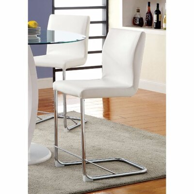 Ballymena Upholstered Dining Chair Color: White