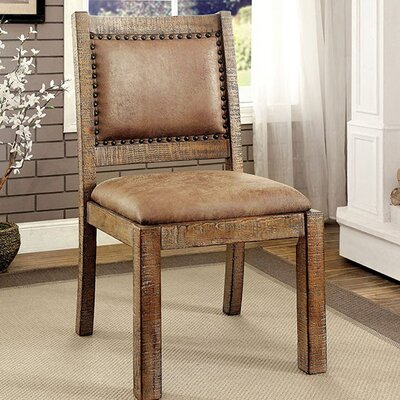 Dalrymple Industrial Solid Wood Dining Chair