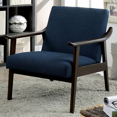 Mckayla Accent Chair Upholstery: Navy