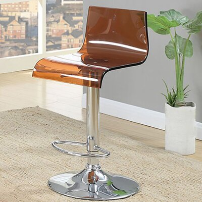 Hesiod Adjustable Height Swivel Bar Stool Color: Brown