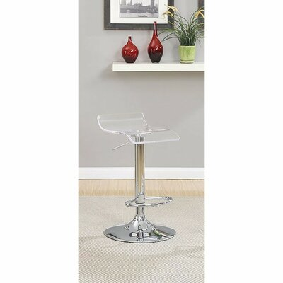 Hesiod Adjustable Height Swivel Bar Stool Color: Clear