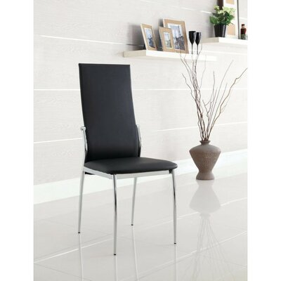 Milan Dining Chair Color: Black