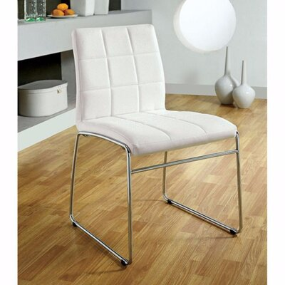 Milburn Dining Chair Color: White