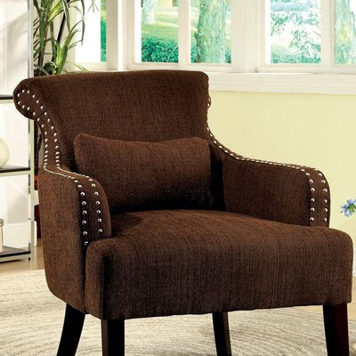 Donte Armchair Upholstery: Brown