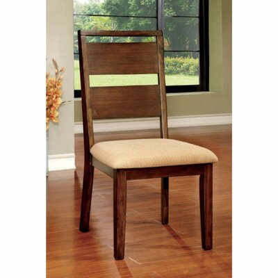 Tan Solid Wood Dining Chair