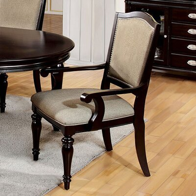 Arik Transitional Solid Wood Dining Arm Chair
