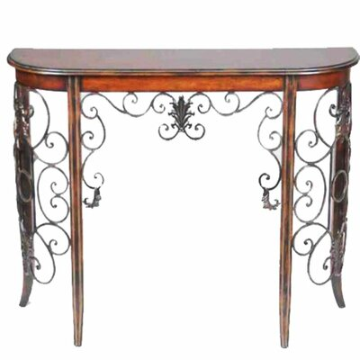 Zyana Jazzy Wood and Metal End Table