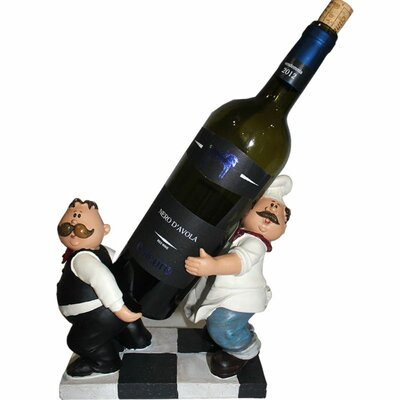 Abdul Chef & Waiter Fashionable 1 Bottle Tabletop Wine Rack