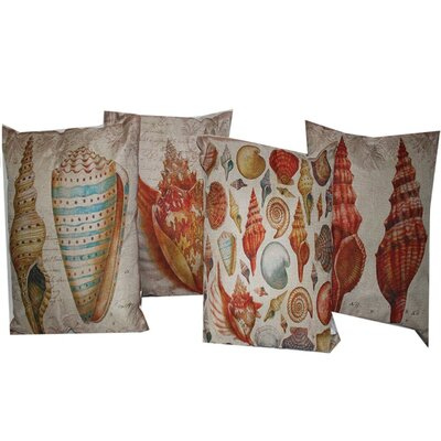 Barrview Captivating Assorted 4 Piece 100% Cotton Throw Pillow