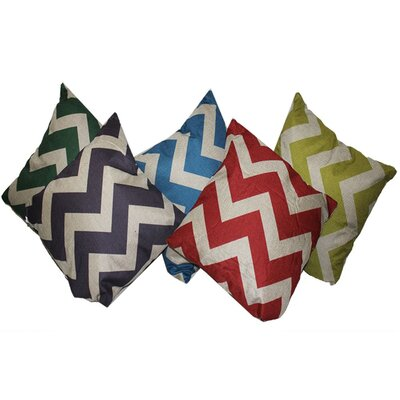 Pinon Astonishing Assorted 5 Piece 100% Cotton Throw Pillow