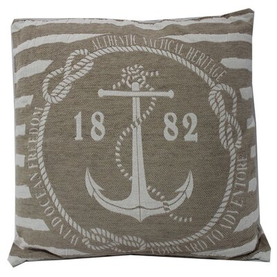 Sharpes Classy Anchor Jarquard 100% Cotton Throw Pillow