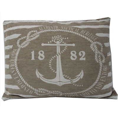 Sharpes Anchor Design Jarquard 100% Cotton Lumber Pillow