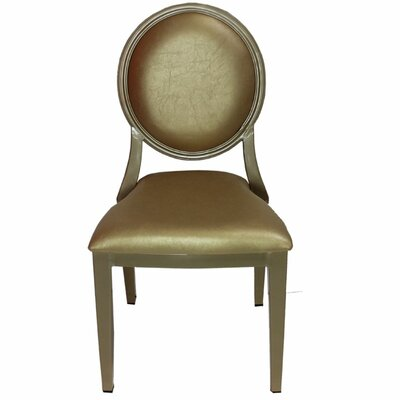 Umar Charming Louis Side Chair Finish: Gold