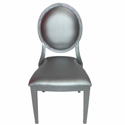 Umar Charming Louis Side Chair Color: Silver