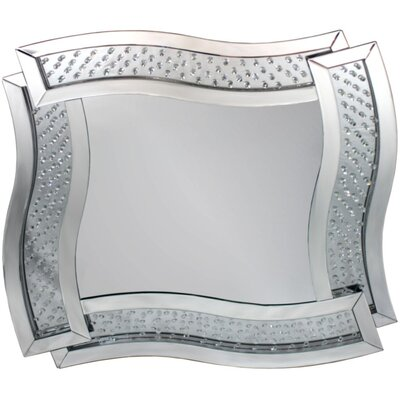Raybon Stylishly Modern Wood Glass Accent Mirror ORNE7783 43943774