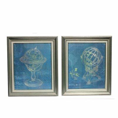 'Astronomical Classic' 2 Piece Framed Print Set