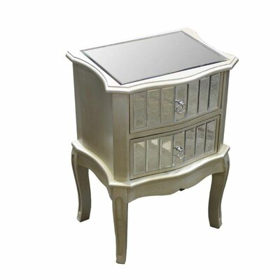 Alejandro Durable 2 Drawer Nightstand