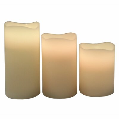 Trendy 3 Piece LED Jar Candle