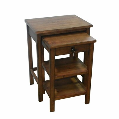 Casurina Stylish Wooden 2 Piece Nesting Table