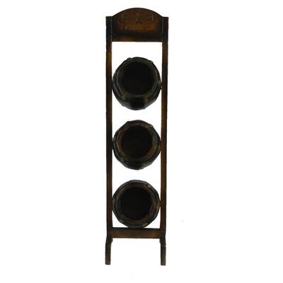 Pernell Engaging 3 Bottle Tabletop Wine Rack