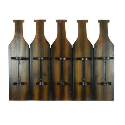 Shah Appealing 5 Bottle Wall Mounted Wine Rack