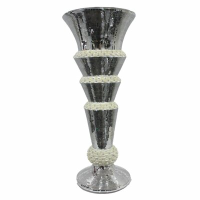 Alijah Fabulous Resin Mirror Fibre Glass Floor Vase ROSP6008 43943729