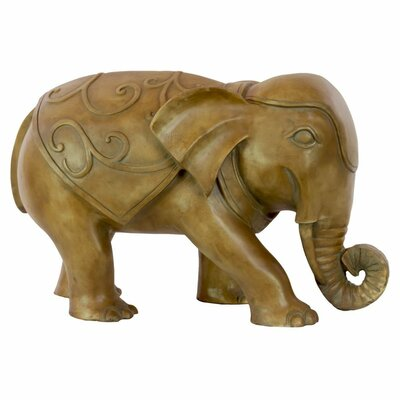 La Belle Resin Walking Elephant Figurine BLMK1676 43617114