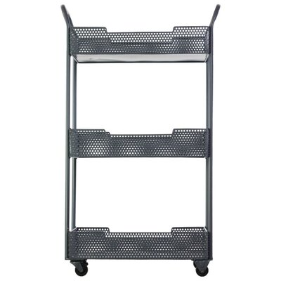 Ellamae Multi-Purpose Metal Tray Kitchen Cart with Handles and Casters