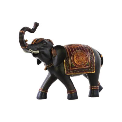 Jeffries Loudly Trumpeting Vibrant Walking Indian Elephant Figurine BLMK1587 43617014