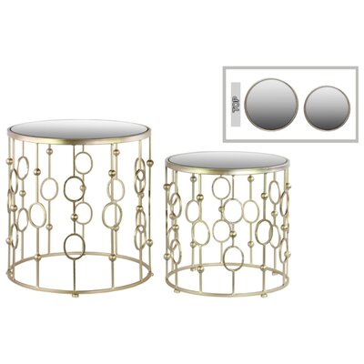 Clarimond 2 Pieces Nesting Tables with Suspended Ring Design